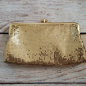 Whiting and Davis gold clutch